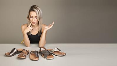 Women's Metallic Sandals