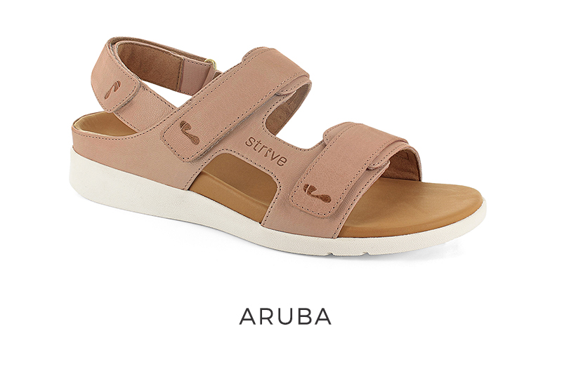Strive Women's orthotic sandals with arch support Aruba