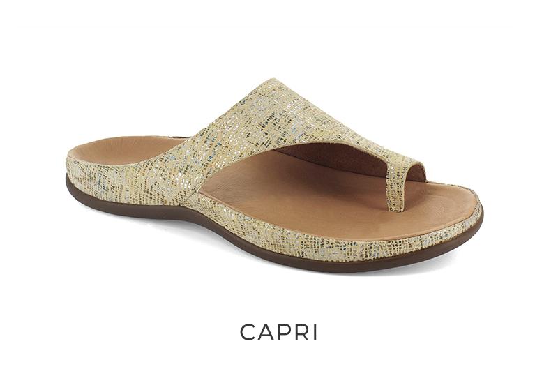 Capri orthotic sandals for plantar fasciitis