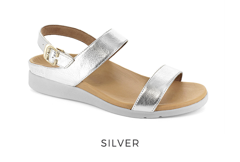Lucia Silver Orthotic Sandal