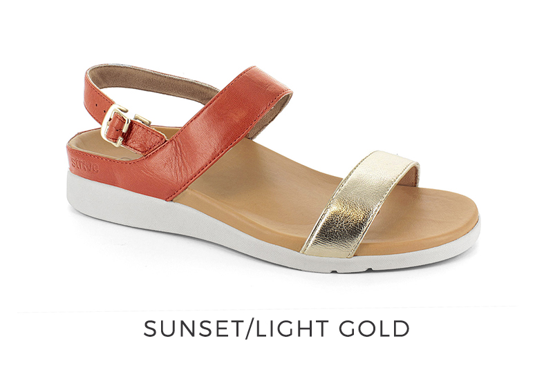 Lucia Sunset Light Gold Orthotic Sandal